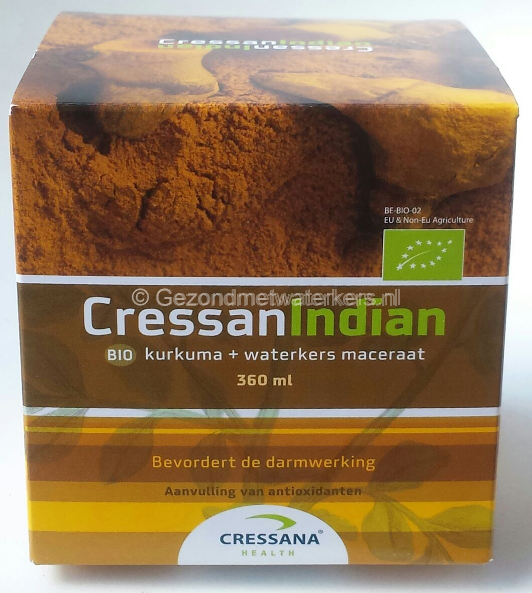 Cressan Indian - Biologische Javaanse Kurkuma en waterkers maceraat - Javaanse curcuma